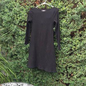 Knit dress - rib knit dress